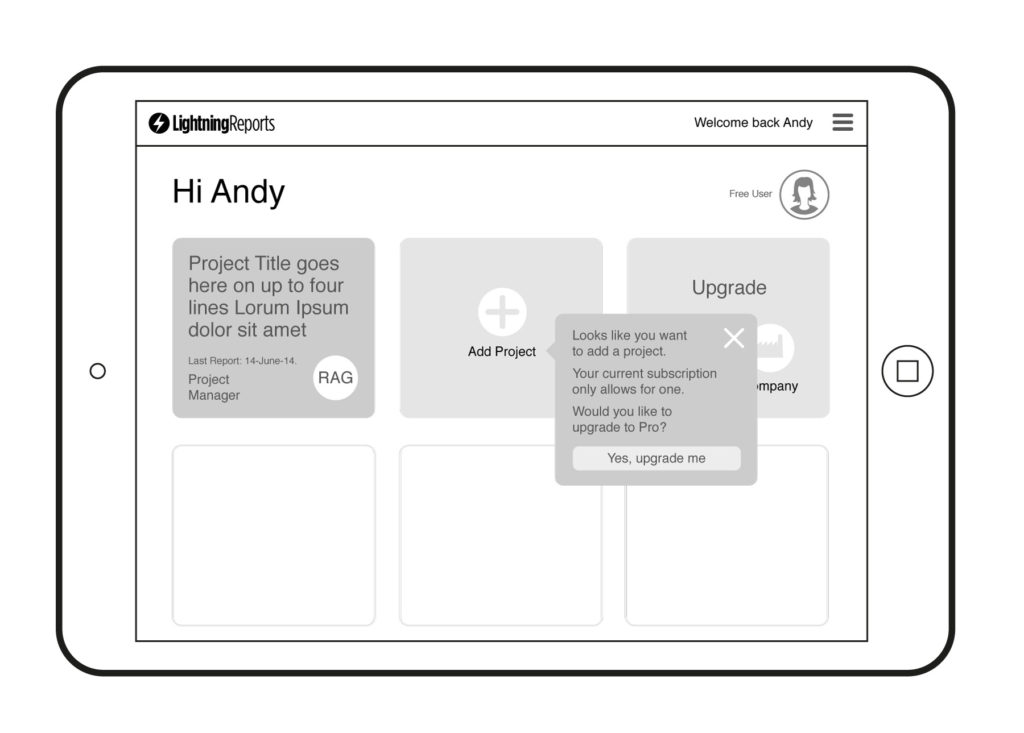 Lightning Reports Wireframes – Tiled