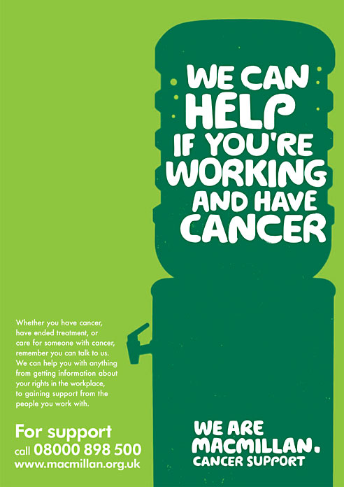 Macmillan full page press ad.