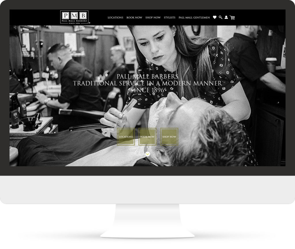 Pall mall Barbers home screen