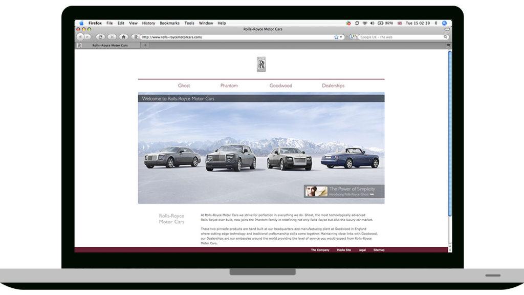 Rolls-Royce homepage
