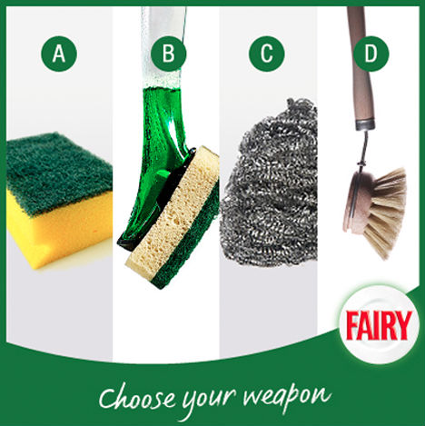 Fairy Facebook post: Choose your weapon