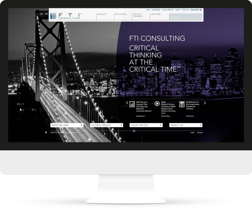 FTI Consulting Login screen